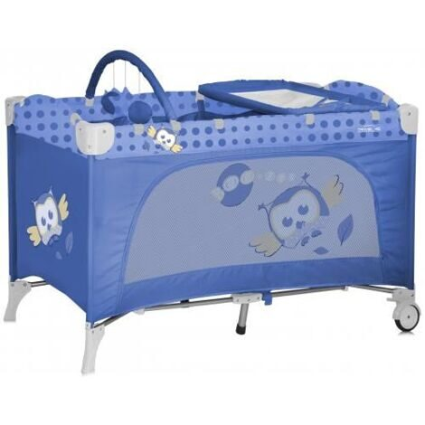 купить Кровать-манеж Bertoni/Lorelli Travel Kid 2 Blue Baby Owls