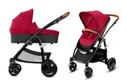 купить Коляска 2 в 1 CBX by Cybex Leotie Lux/Crunchy Red, Smoky Anthracite, Comfy Grey, Jeansy Blue