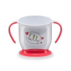 купить Кружка Happy Baby на присоске Baby cup with suction base Ruby