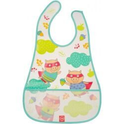 купить Нагрудник Happy Baby на липучке Waterproof Baby Bib Mint Pigs